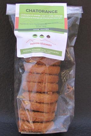 biscuits châtaigne et zeste d'orange