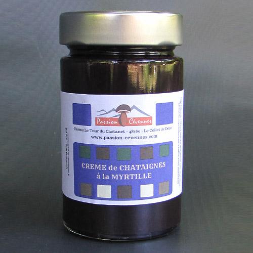 Crème de châtaigne et myrtille