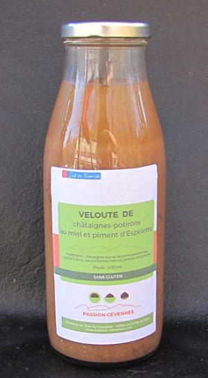 Velouté Châtaigne Potiron au Miel et piment d'Espelette