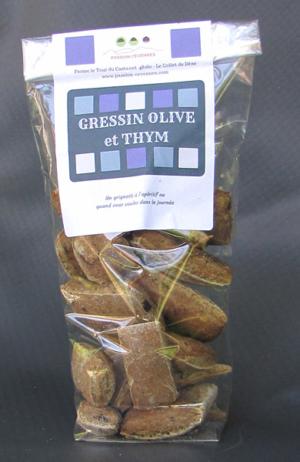 Gressin olive et thym