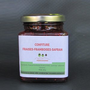 Confiture Fraise, Framboise et Safran