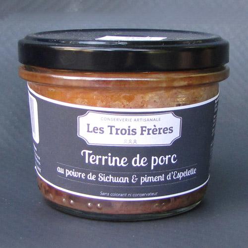 Terrine de porc au poivre de Sichuan et piment d'Espelette
